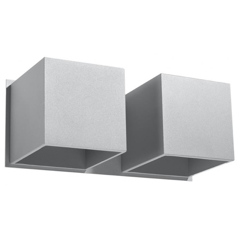 Sieninis šviestuvas QUAD 2 pilkas - 1 - 49,82€