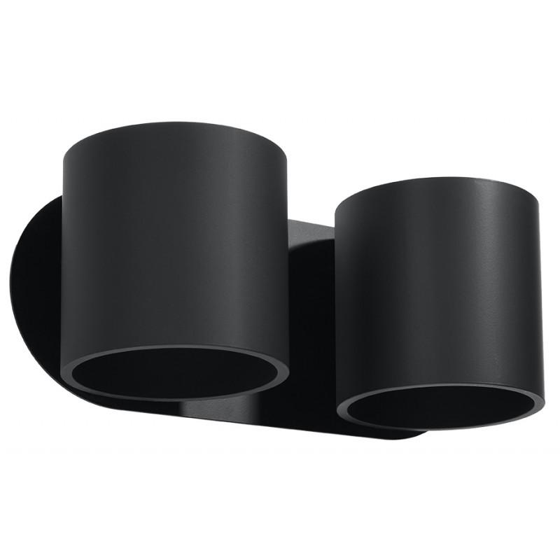 Sieninis šviestuvas ORBIS 2 juodas - 1 - 49,82€