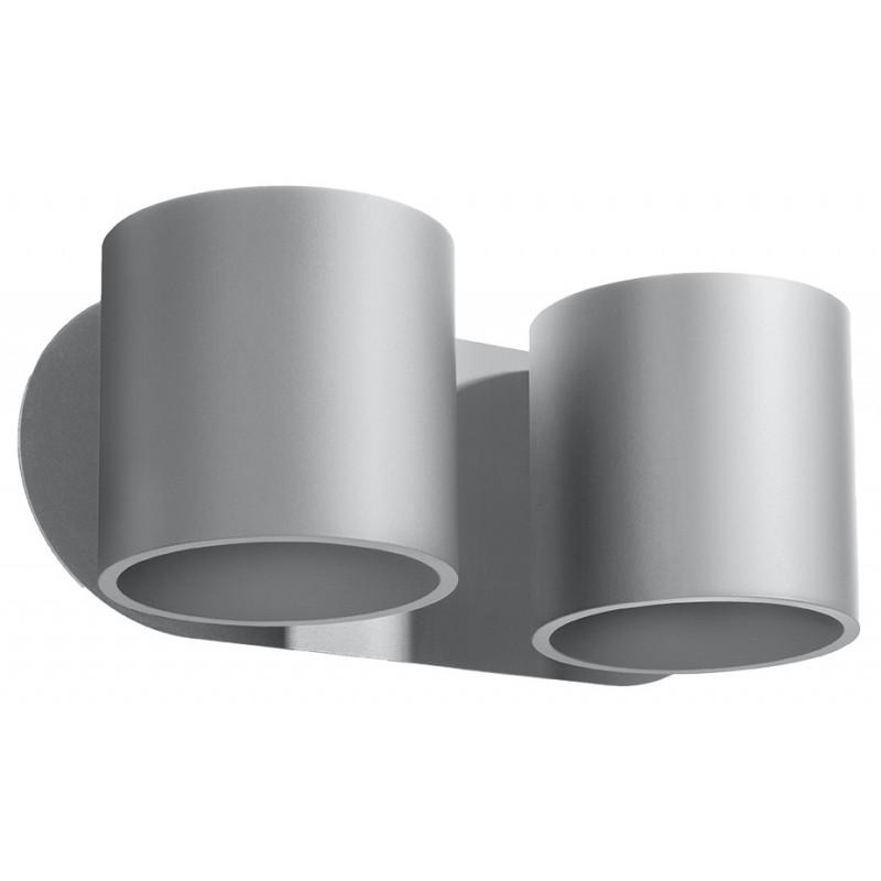 Sieninis šviestuvas ORBIS 2 pilkas - 1 - 49,82€