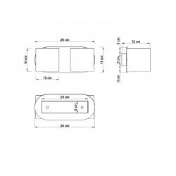 Sieninis šviestuvas ORBIS 2 pilkas - 3 - 49,82€