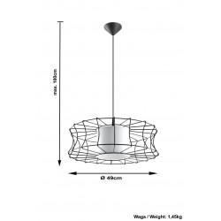 Pakabinamas šviestuvas SALERNO baltas - 4 - 51,12€