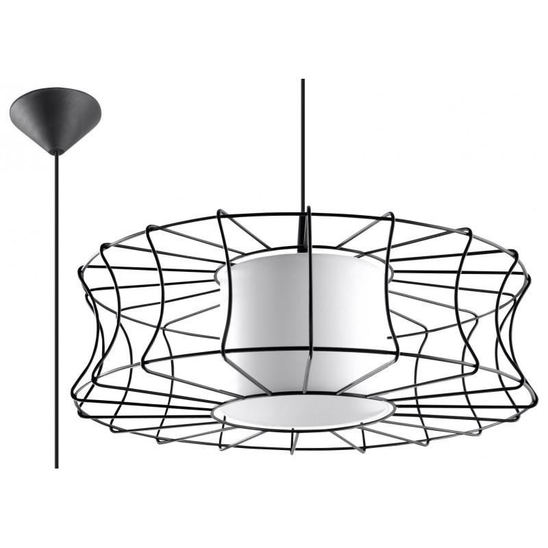 Pakabinamas šviestuvas SALERNO juodas - 1 - 51,12€