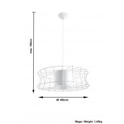 Pakabinamas šviestuvas SALERNO juodas - 4 - 51,12€