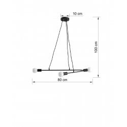 Pakabinamas šviestuvas ASTRAL 3 juodas - 2 - 51,55€