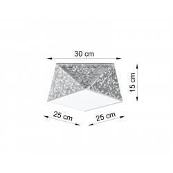 Plafonas HEXA 25 sidabro - 3 - 51,82€