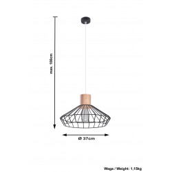 Pakabinamas šviestuvas LORA - 4 - 52,05€