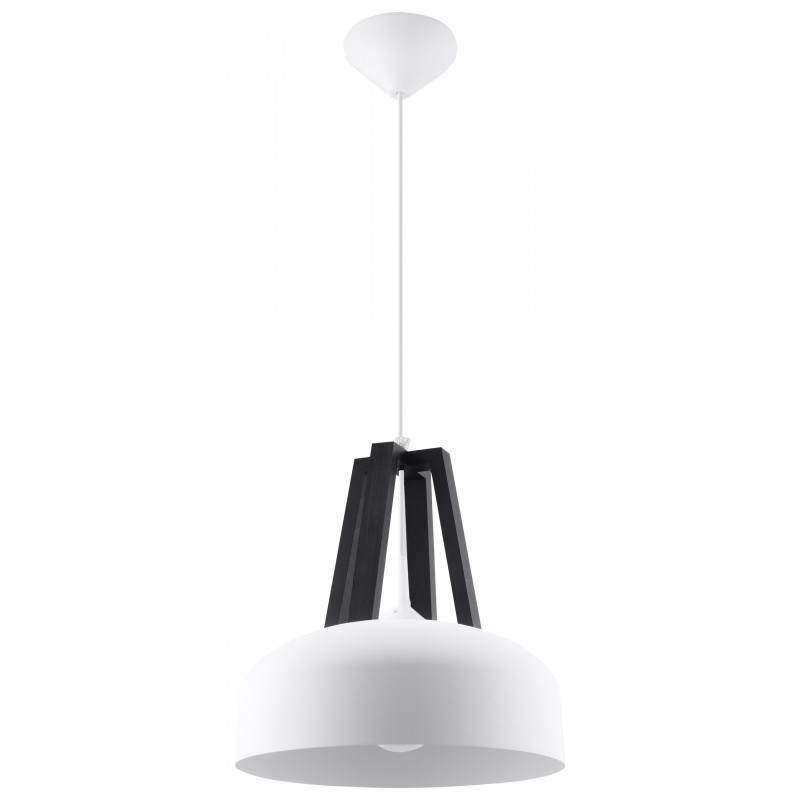 Pakabinamas šviestuvas CASCO baltas/juodas - 1 - 54,50€