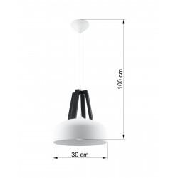 Pakabinamas šviestuvas CASCO baltas/juodas - 4 - 54,50€