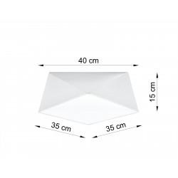 Plafonas HEXA 35 baltas - 2 - 57,80€