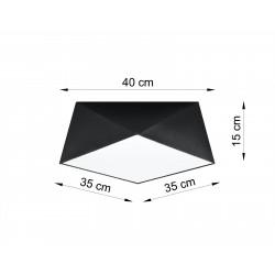 Plafonas HEXA 35 juodas - 2 - 57,80€