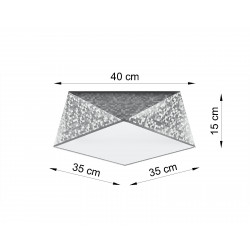 Plafonas HEXA 35 sidabro - 2 - 61,78€