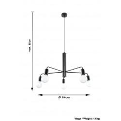 Lubinis šviestuvas DUOMO 5 - 4 - 62,50€
