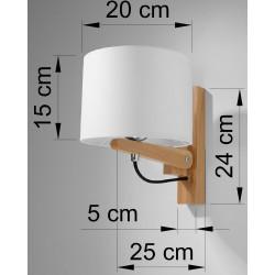 Sieninis šviestuvas LEGNO - 4 - 62,77€