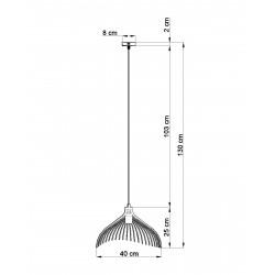 Pakabinamas šviestuvas UMB juodas - 2 - 62,77€