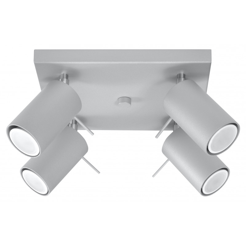 Lubinis šviestuvas RING 4 pilkas - 1 - 63,38€