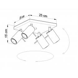 Lubinis šviestuvas RING 4 pilkas - 4 - 63,38€