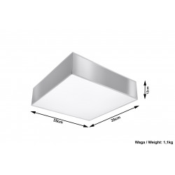 Plafonas HORUS 35 pilkas - 4 - 63,50€