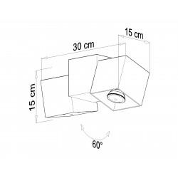 Plafonas OPTIK NERO 3 - 4 - 66,76€