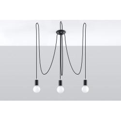 Pakabinamas šviestuvas EDISON 3 juodas - 2 - 66,86€