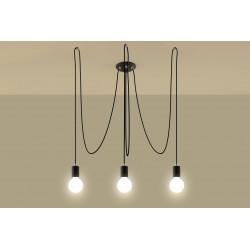 Pakabinamas šviestuvas EDISON 3 juodas - 3 - 66,86€