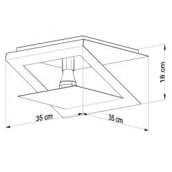 Plafonas NAZARIA KWADRAT - 4 - 67,55€