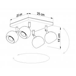 Lubinis šviestuvas OCULARE 4 baltas - 4 - 67,94€