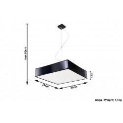 Pakabinamas šviestuvas HORUS 35 juodas - 4 - 68,28€