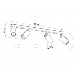 Lubinis šviestuvas RING 4L pilkas - 4 - 70,60€