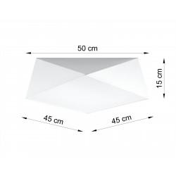 Plafonas HEXA 45 baltas - 2 - 71,74€