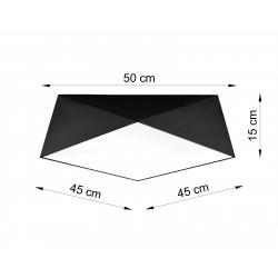 Plafonas HEXA 45 juodas - 2 - 71,74€
