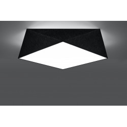 Plafonas HEXA 45 juodas - 3 - 71,74€