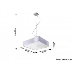 Pakabinamas šviestuvas HORUS 35 pilkas - 5 - 72,39€