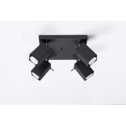 Plafonas MERIDA 4 juodas - 2 - 72,94€