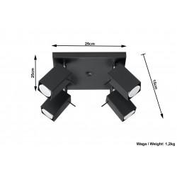 Plafonas MERIDA 4 juodas - 4 - 72,94€