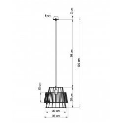 Pakabinamas šviestuvas GATE juodas - 2 - 76,71€