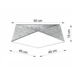 Plafonas HEXA 45 sidabro - 2 - 76,71€
