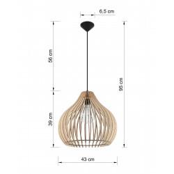 Pakabinamas šviestuvas APRILLA - 2 - 77,72€