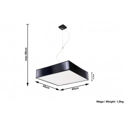 Pakabinamas šviestuvas HORUS 45 juodas - 5 - 82,95€