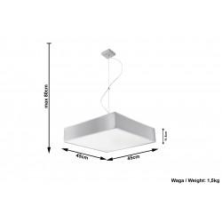 Pakabinamas šviestuvas HORUS 45 pilkas - 5 - 87,98€