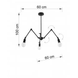 Pakabinamas šviestuvas STARK 3 juodas - 2 - 91,74€