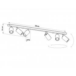 Lubinis šviestuvas RING 6L pilkas - 4 - 98,02€