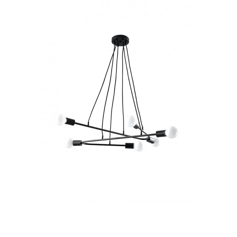 Pakabinamas šviestuvas ASTRAL 6 juodas - 1 - 102,04€