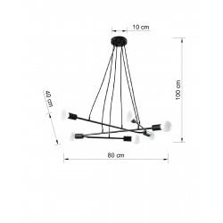 Pakabinamas šviestuvas ASTRAL 6 juodas - 2 - 102,04€