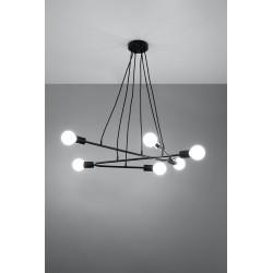 Pakabinamas šviestuvas ASTRAL 6 juodas - 3 - 102,04€