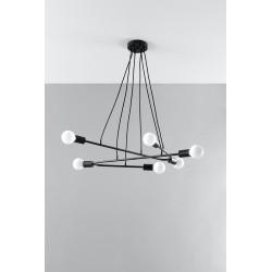 Pakabinamas šviestuvas ASTRAL 6 juodas - 4 - 102,04€