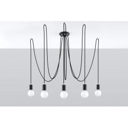 Pakabinamas šviestuvas EDISON 5 juodas - 2 - 104,18€