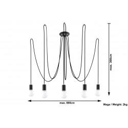 Pakabinamas šviestuvas EDISON 5 juodas - 4 - 104,18€