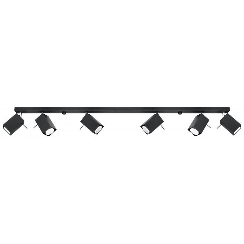 Lubinis šviestuvas MERIDA 6L juodas - 1 - 126,54€