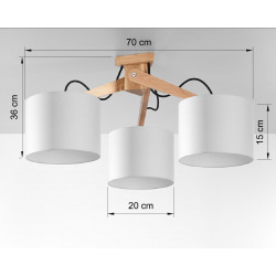 Plafonas LEGNO 3 - 4 - 130,52€