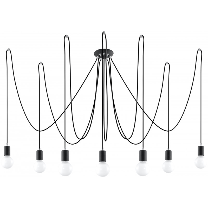 Pakabinamas šviestuvas EDISON 7 juodas - 1 - 131,51€
